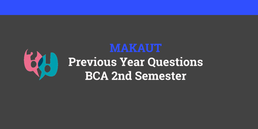 makaut bca 2nd semester question paper